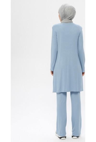 Peker Kadın Kolyeli Tunik& Pantolon İkili Takım