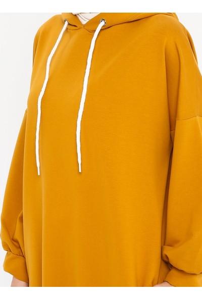 Marwella Kadın Uzun Sweatshirt