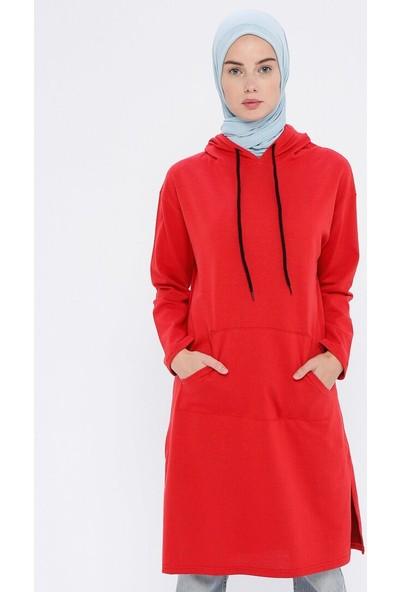 Çat Pat Tekstil Kadın Cep Detaylı Sweatshirt