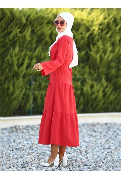 Lazeyn Kadın Parçalı Körüklü Elbise