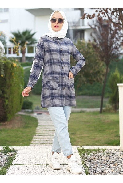 Lazeyn Kadın Doğal Kumaşlı Oduncu Gömlek