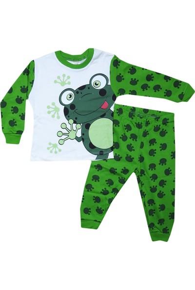 Süpermini Kurbağalı Çocuk Pijama Takımı
