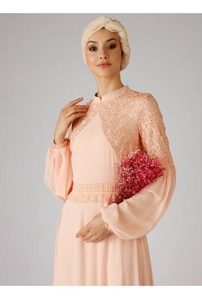 Mwedding Güpür Detaylı Abiye Elbise