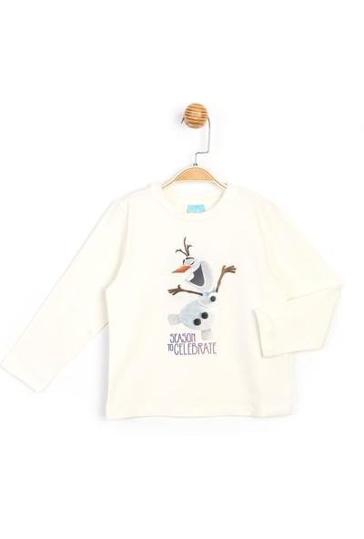 Disney Frozen Uzun Kol Kız Çocuk T-shirt 16038