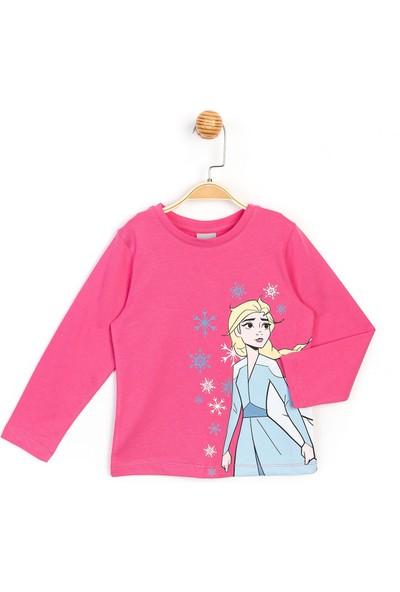 Disney Frozen Uzun Kol Kız Çocuk T-shirt 16049