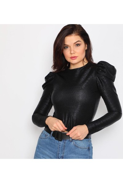 Next Trend Siyah Pullu Bluz Next3541