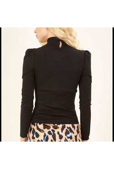 Next Trend Siyah Gögüs Dekolte Detaylı Bluz Next3463