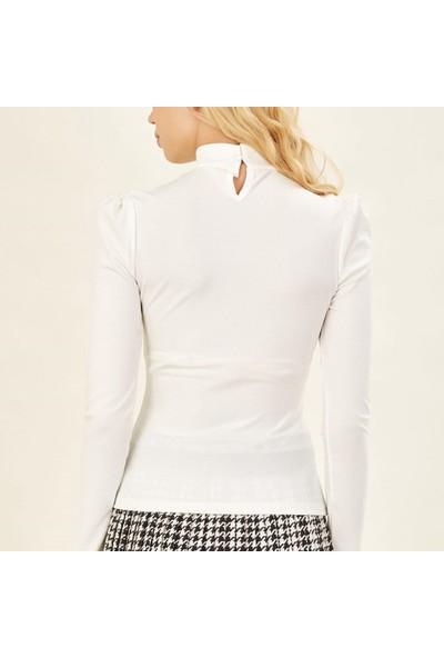 Next Trend Beyaz Gögüs Dekolte Detaylı Bluz Next3463