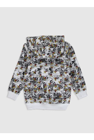 LC Waikiki Mickey Mouse Erkek Bebek Fermuarlı Sweatshirt