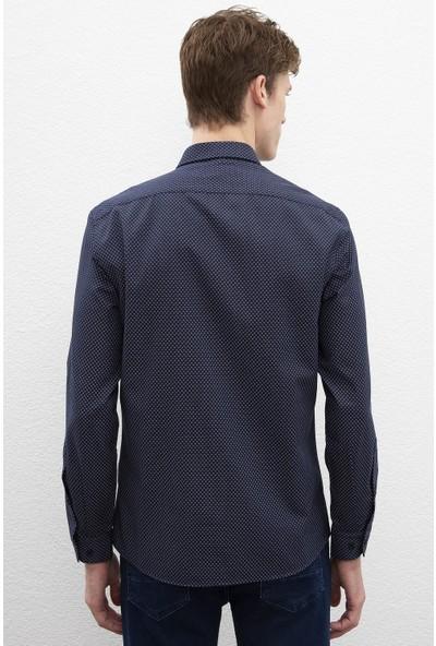 U.S. Polo Assn. Erkek Dokuma Gömlek 50219957-Vr046