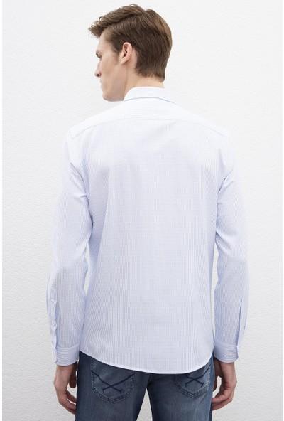 U.S. Polo Assn. Erkek Dokuma Gömlek 50219951-Vr003