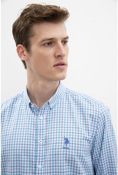 U.S. Polo Assn. Erkek Dokuma Gömlek 50220118-Vr007