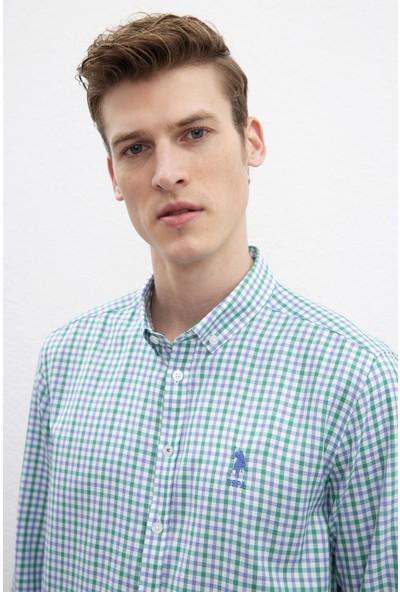 U.S. Polo Assn. Erkek Dokuma Gömlek 50220118-Vr054