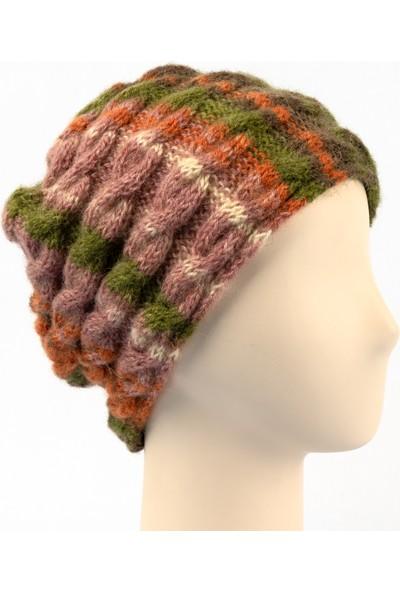 Pinkbear Özel Tasarım %100 Handmade El Örgüsü Yerli Üretim Outdoor Angora Yün Kadın Bere Şapka