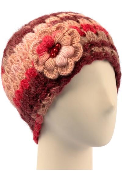 Pinkbear Özel Tasarım %100 Handmade El Örgüsü Yerli Üretim Angora Yün Kadın Bere Şapka
