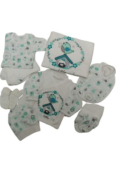 Leylek Baby Collection Leylek | Hastane Çıkışı Kuşlu 10 Parça Zıbın Seti Unisex