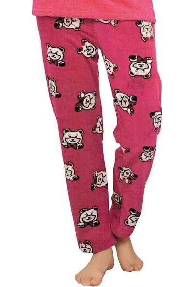 Baray 3047 Peluş Welsoft Polar Kışlık Kadın Ev Pijama Takımı