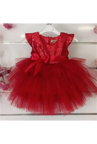 Pumpido Payetli Doğum Günü - Düğün Kız Çocuk Elbise 2-7 Yaş