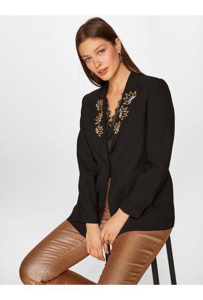 Faik Sönmez Kadın Taş İşlemeli Abiye Ceket 60208