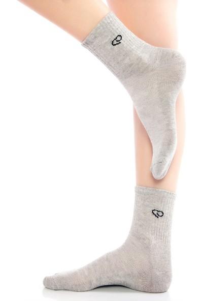 Ebru Şallı Siyah Renk 3'lü Set Spor Çorap