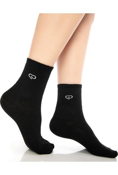 Ebru Şallı Gri Renk 3'lü Set Spor Çorap