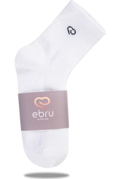 Ebru Şallı Beyaz Renk 3'lü Set Spor Çorap
