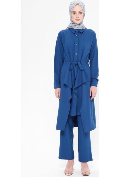 Panaline Kadın Tunik Pantolon İkili Takım Koyu İndigo