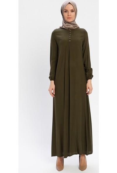 Ginezza Kadın Düğmeli Elbise Haki