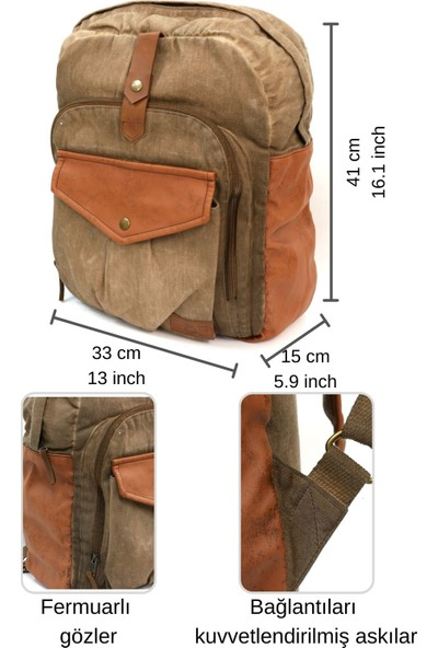 Old Cotton Cargo 7002 Tuareg Bag Seyahat - Laptop - Notebook - Sırt Çantası