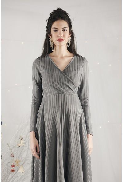 Lyn Devon Kadın Lane Elbise Gri