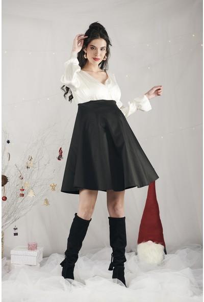 Lyn Devon Kadın Rebeca Elbise Siyah
