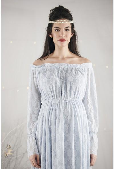 Lyn Devon Kadın Marie Elbise Mavi