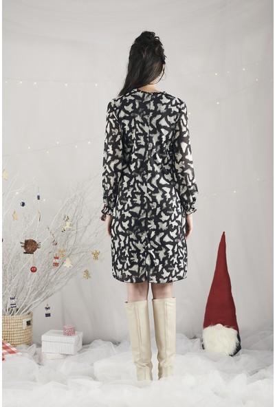 Lyn Devon Kadın Trace Elbise Gri