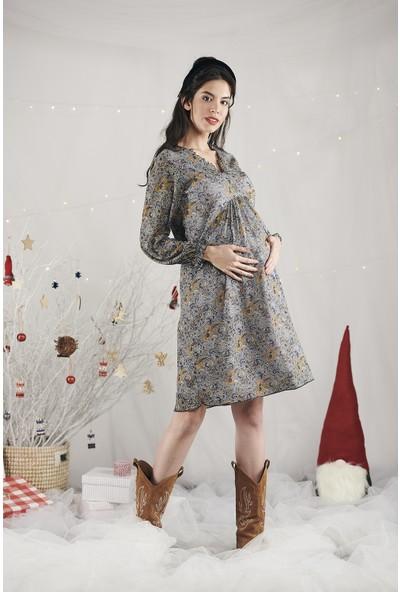 Lyn Devon Kadın Trace Elbise Hardal
