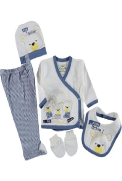 Miniworld Mavi 5'li Erkek Bebek Hastane Çıkışı Zıbın Seti SNB12324