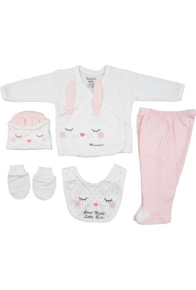 Miniworld Pembe 5'li Kız Bebek Hastane Çıkışı Zıbın Seti SNB12331