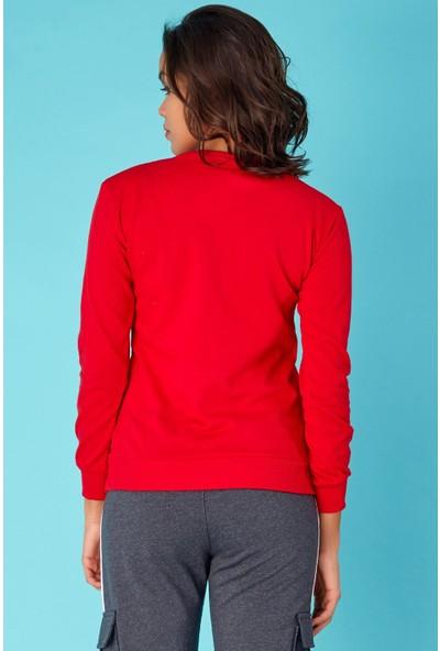 FullaModa Vogue Baskılı Sweatshirt
