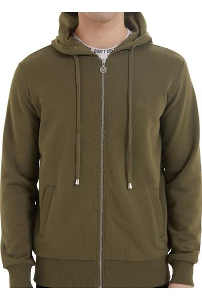 Westmark London Essentials Zıp Hoodie Erkek Haki Sweatshirt L
