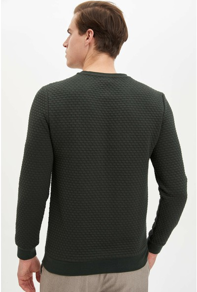 Defacto Erkek Uzun Kollu Slim Fit Sweatshirt