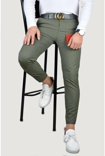 Terapi Men Erkek Keten Pantolon 8K-2200133-029 Haki