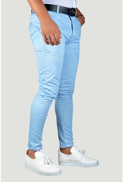 Terapi Men Erkek Keten Pantolon 9Y-2200200-004-1 Mavi
