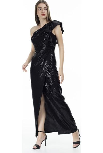 Via Dante Tek Omuz Abiye Elbise Kadın Abiye Elbise 04661332Vd