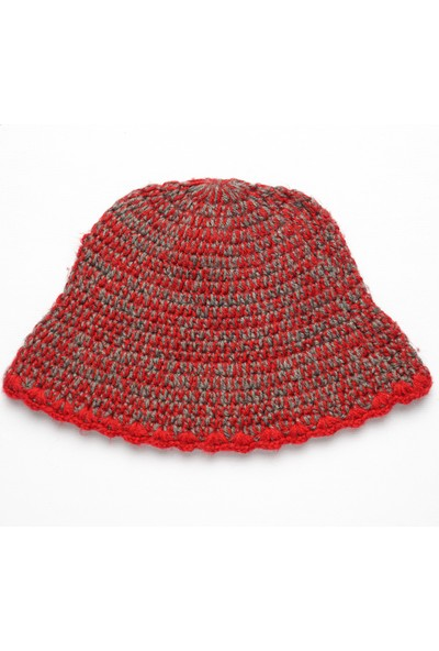 Pinkbear Özel Tasarım %100 Handmade El Örgüsü Yerli Üretim Outdoor Yün Kadın Fötr Bere Şapka