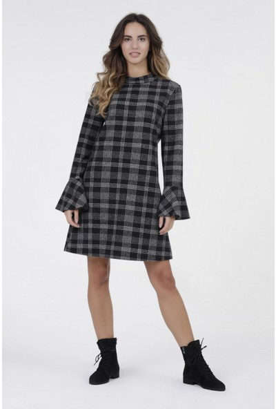 New Laviva Antrasit Kadın Elbise