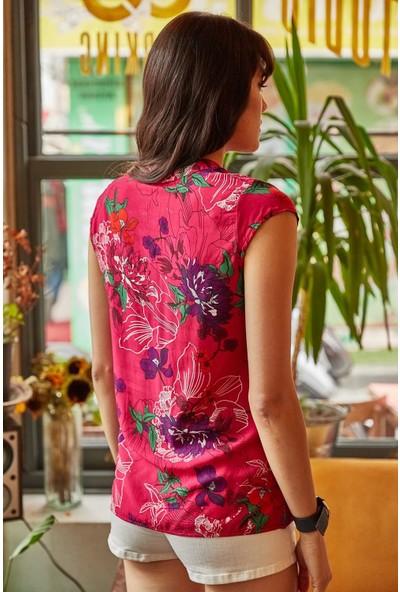 New Laviva Fuşya Kadın Gömlek