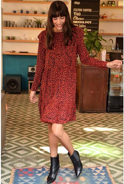 New Laviva Bordo Kadın Elbise
