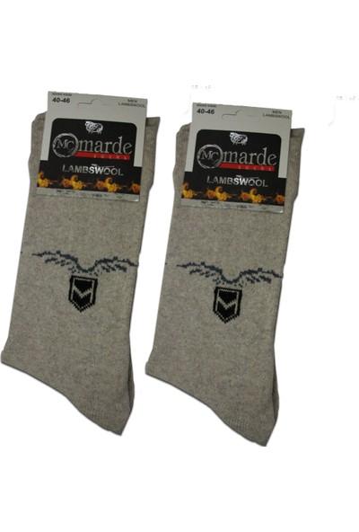 Marde Erkek Kışlık Kalın Yünlü Çorap Dikişsiz Parfümlü 2 Adet