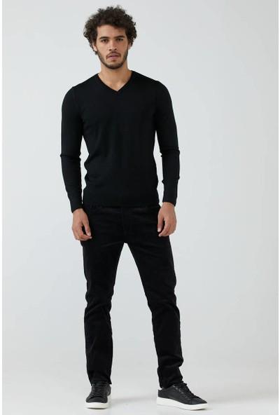 SAM Erkek Beş Cep Kadife Pantolon - Siyah