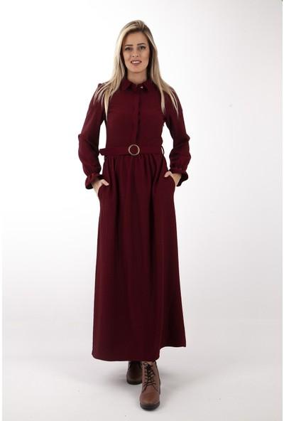 Arda New Line Kadın Bordo Elbise 7709208.04