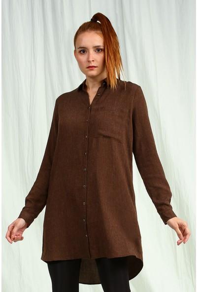 Collezione Kadın Kahverengi Tunik Nafer